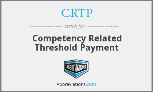 What does CRTP stand for?
