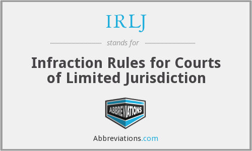 What does IRLJ stand for?