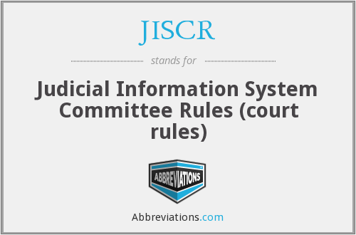 What does JISCR stand for?