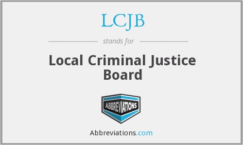 What does LCJB stand for?