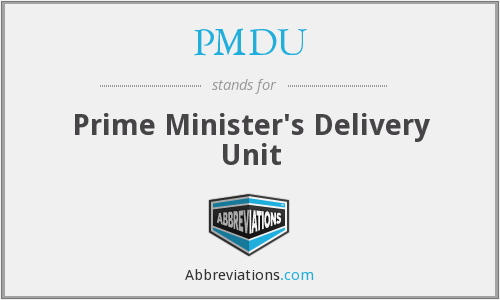 What does PMDU stand for?