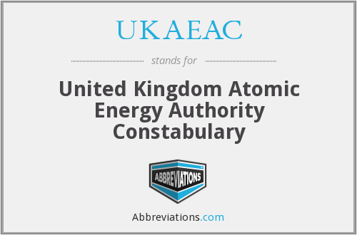 What does UKAEAC stand for?