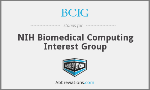 What does BCIG stand for?