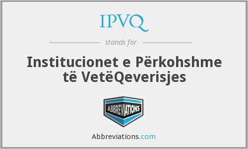 What does IPVQ stand for?