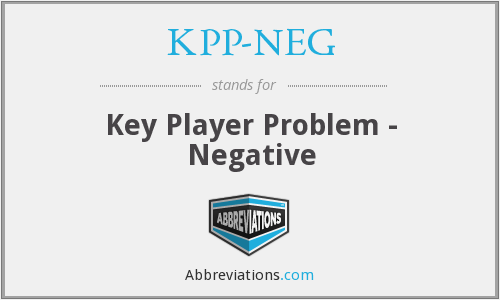 What does KPP-NEG stand for?