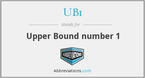 What does UB1 stand for?