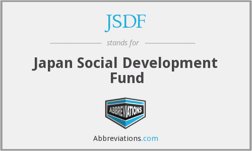 What does JSDF stand for?