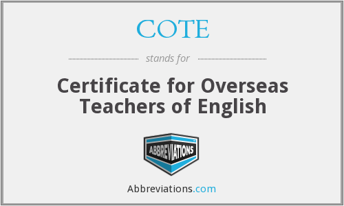 What does COTE stand for?