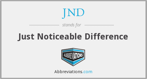 What does JND stand for?