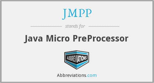 What does JMPP stand for?