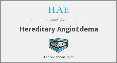 What does HAE stand for?