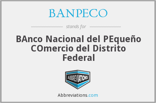 What does BANPECO stand for?