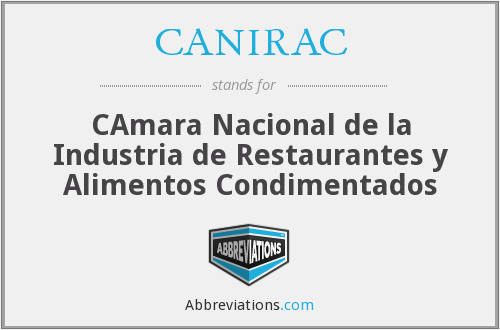 What does CANIRAC stand for?