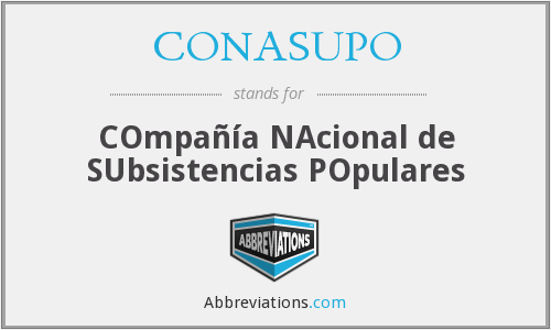 What does CONASUPO stand for?