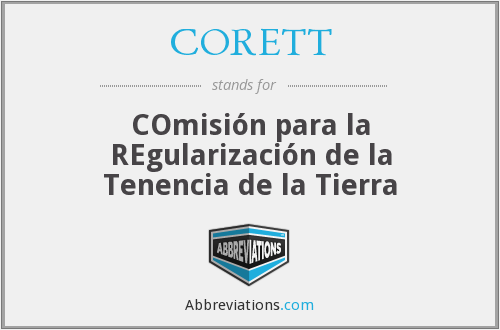 What does CORETT stand for?