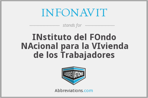 What does INFONAVIT stand for?
