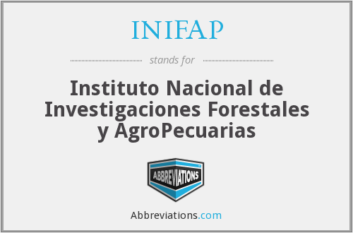 What does INIFAP stand for?