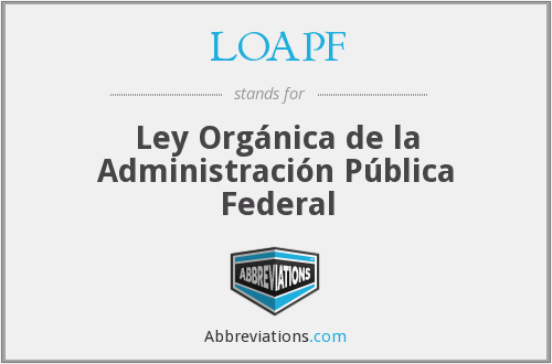 What does LOAPF stand for?