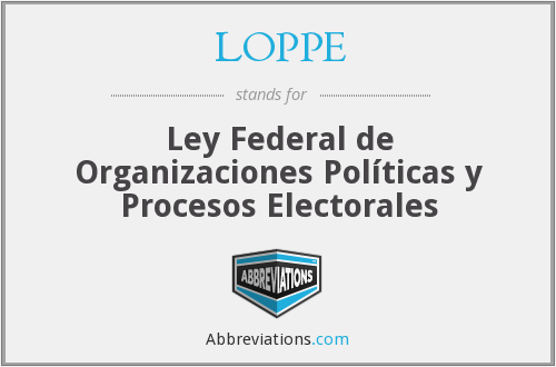 What does LOPPE stand for?