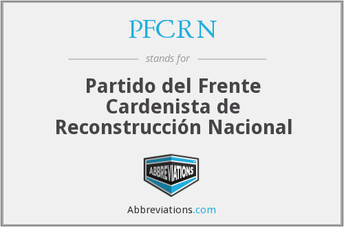 What does PFCRN stand for?