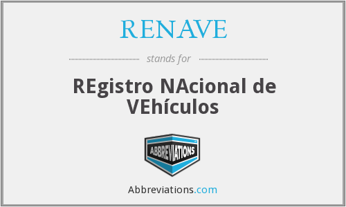 What does RENAVE stand for?