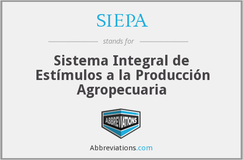 What does SIEPA stand for?