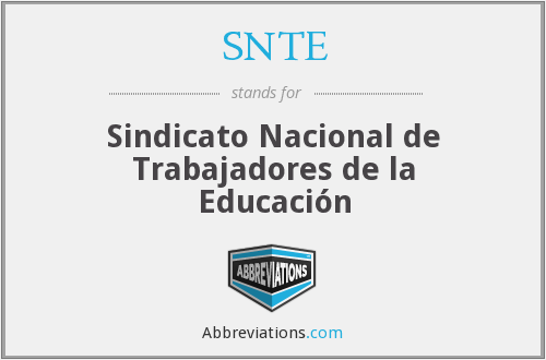 What does SNTE stand for?