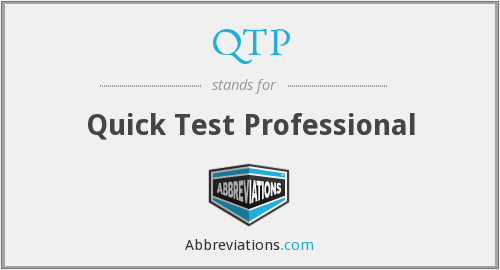 What does QTP stand for?