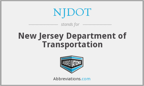 What does NJDOT stand for?