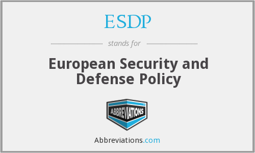 What does ESDP stand for?
