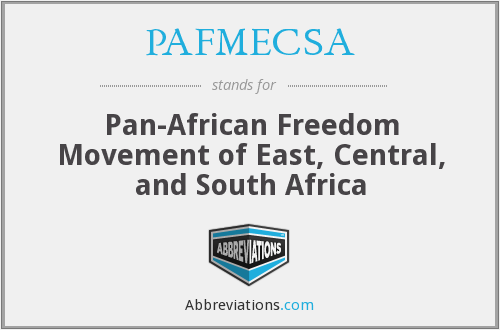 What does PAFMECSA stand for?