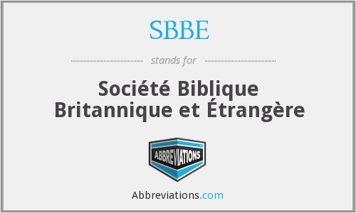 What does SBBE stand for?