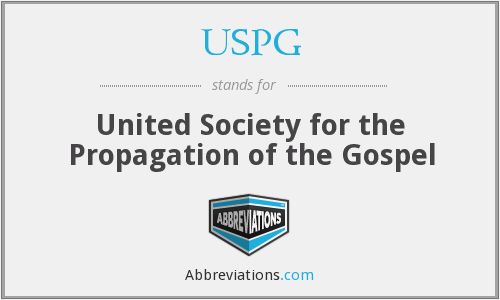 What does USPG stand for?