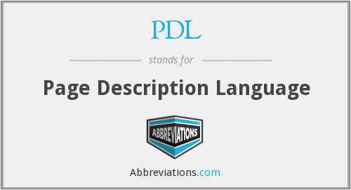 What does PDL stand for?