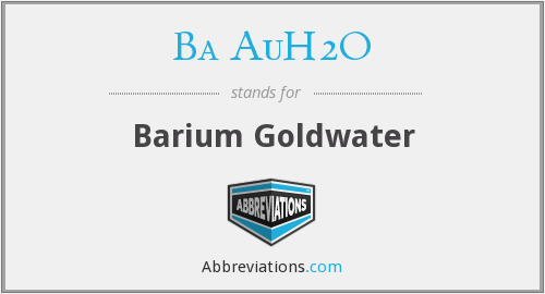 What does BA AUH2O stand for?
