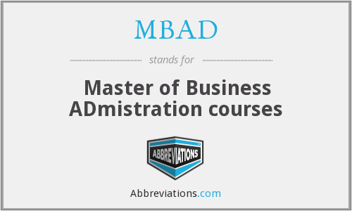 What does MBAD stand for?