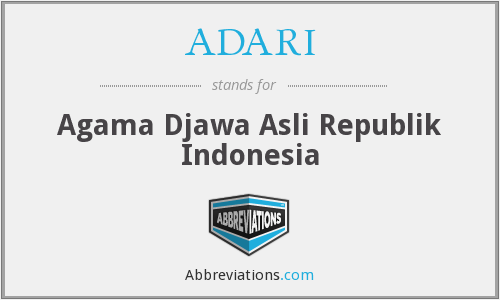 What does ADARI stand for?