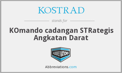 What does KOSTRAD stand for?