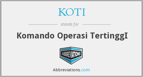 What does KOTI stand for?