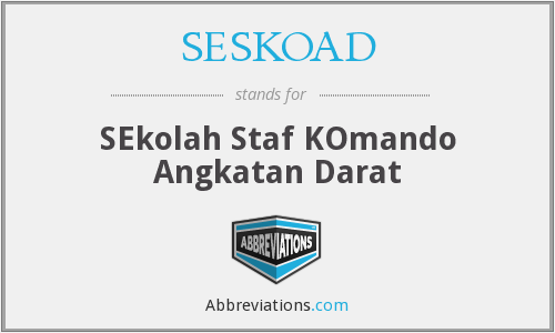 What does SESKOAD stand for?