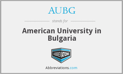 What does AUBG stand for?