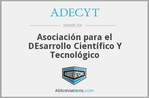 What does ADECYT stand for?