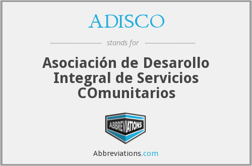 What does ADISCO stand for?