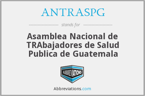 What does ANTRASPG stand for?