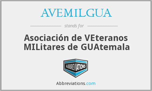 What does AVEMILGUA stand for?