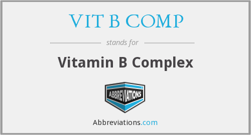 What does VIT B COMP stand for?