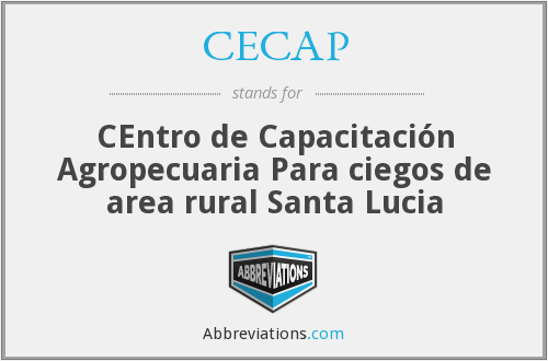 What does CECAP stand for?