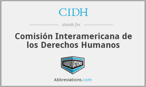 What does CIDH stand for?
