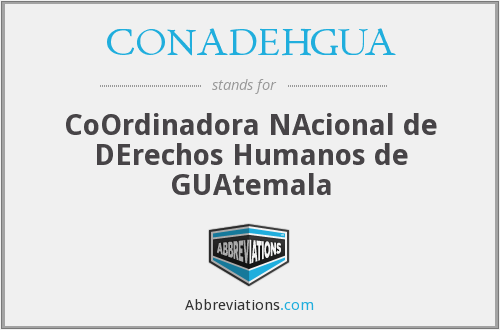 What does CONADEHGUA stand for?