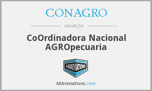 What does CONAGRO stand for?